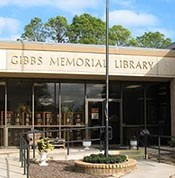Gibbs Memorial Library - You Can Go Anywhere With A Book Logo